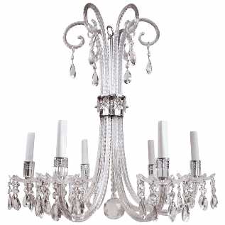 Regency Style Crystal Chandelier after Lafount